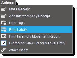 print-labels-menu