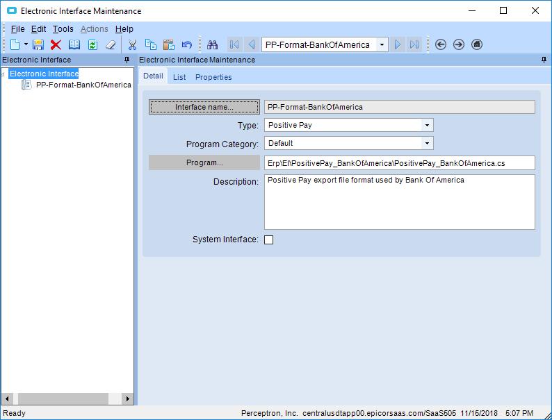 Positive pay output file - ERP 10 - Epicor User Help Forum