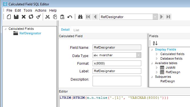 BAQ - Split string into multiple rows - ERP 10 - Epicor User Help Forum