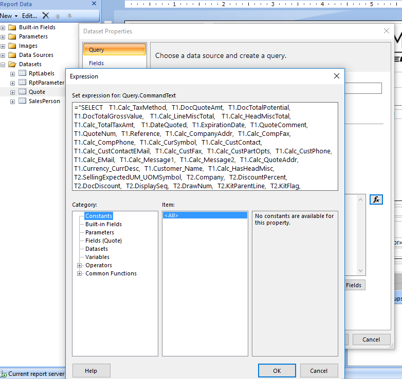 Updating a current SSRS report - ERP 10 - Epicor User Help Forum