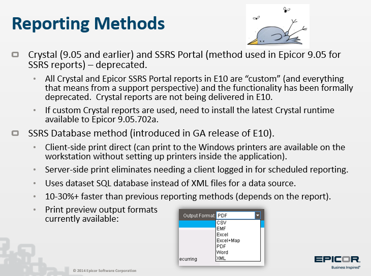 SSRS XML Datasource - ERP 10 - Epicor User Help Forum