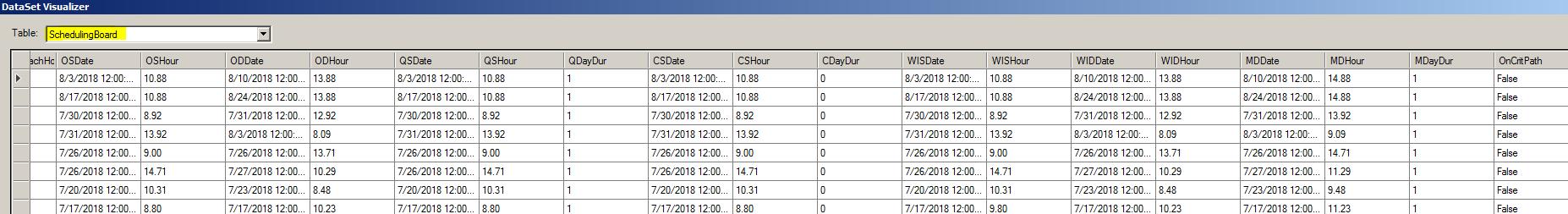 job schedule show me the data e10 epicor help forum