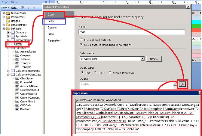 Add custom CustXPart Field to AR Form SSRS - ERP 10 - Epicor