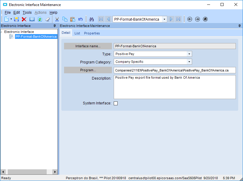 Positive Pay - Modification - ERP 10 - Epicor User Help Forum