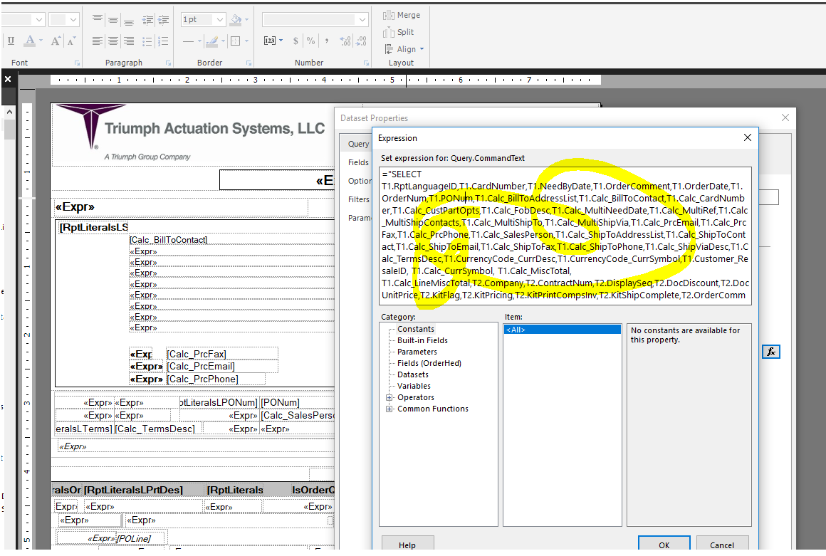 SSRS can't modify dataset - ERP 10 - Epicor User Help Forum
