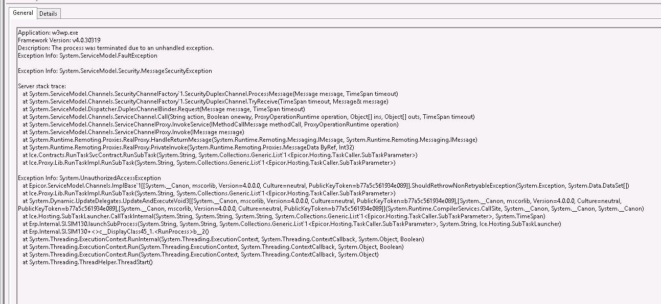 Multi-Company Direct Process Crashing AppServer - ERP 10